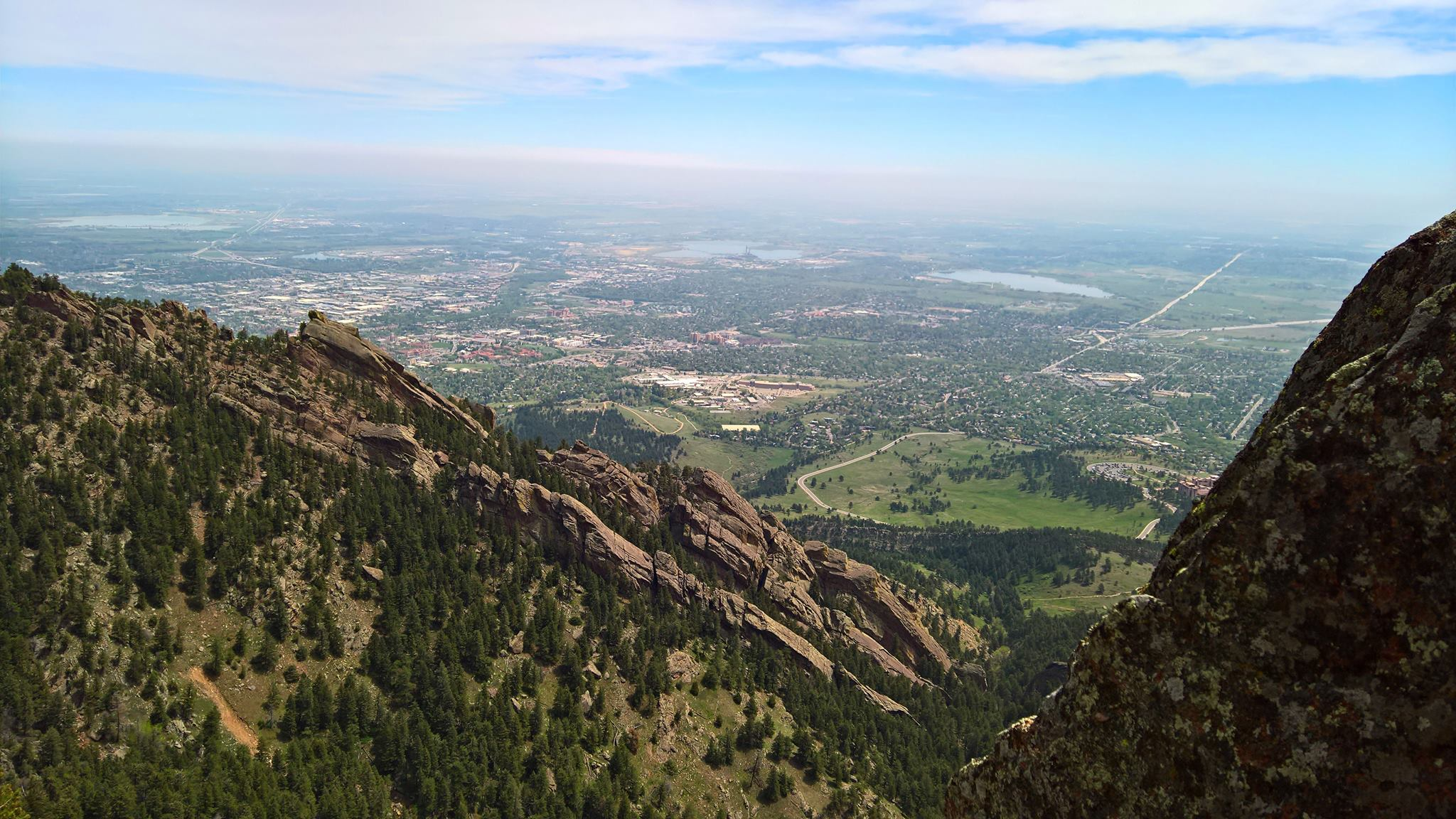 Sunshine was plentiful on Saturday, great for climbing the Flatirons