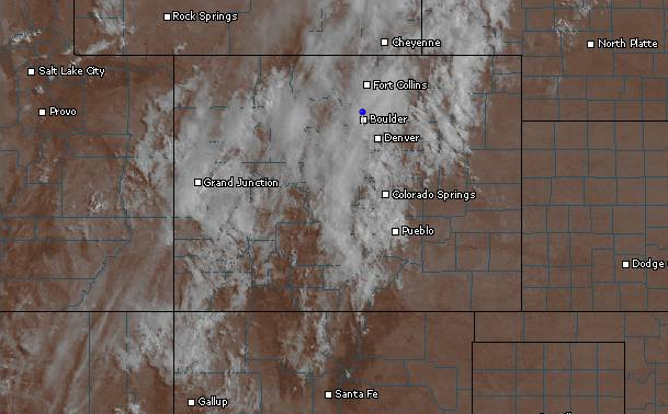 Visible satellite over Colorado, as of 9am Monday.