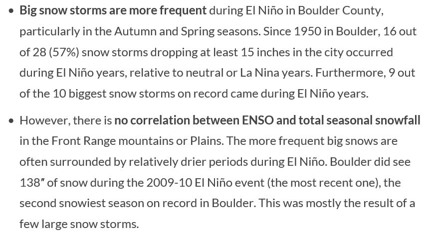 El Niño update and its impact on autumn in Boulder | BoulderCAST