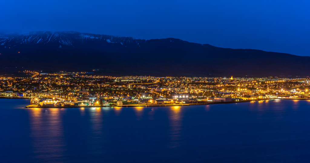 A final look at Akureyri as we left in the Twin Otter for Summit.