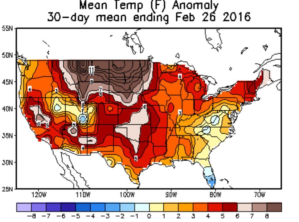 Feb2016 Temp Anomaly