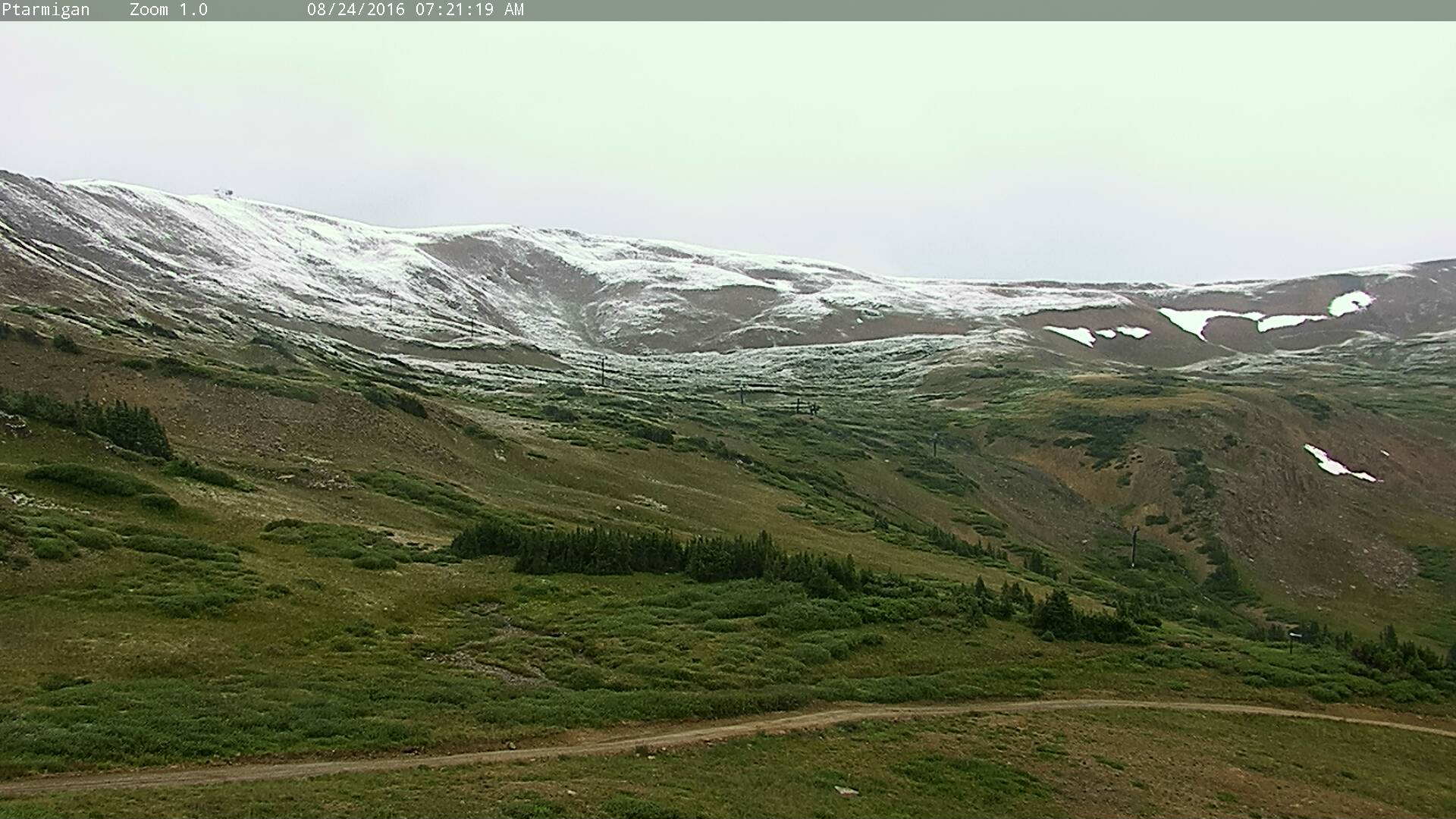 Loveland ski area at the end of last week. Just one of many high mountain locales across the state to see a dusting of snow
